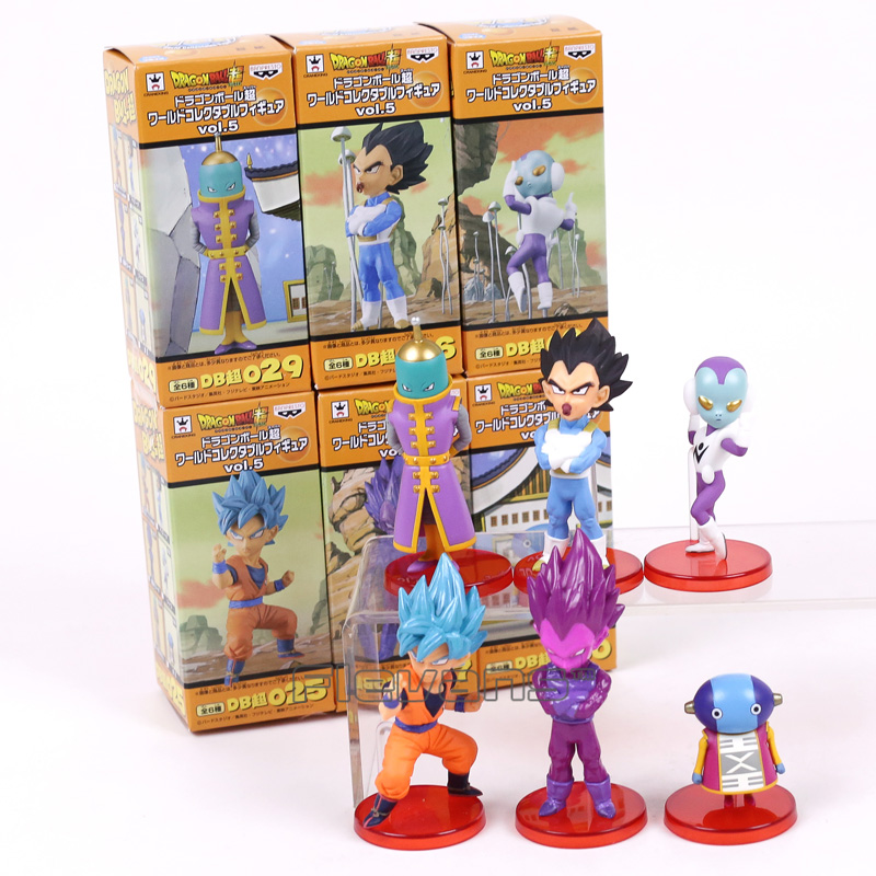 Dragon Ball Super vol.5 Son Goku Vegeta Zen o Jaco PVC Figures Collectible Model Toys 6pcs/set 5~9cm цена
