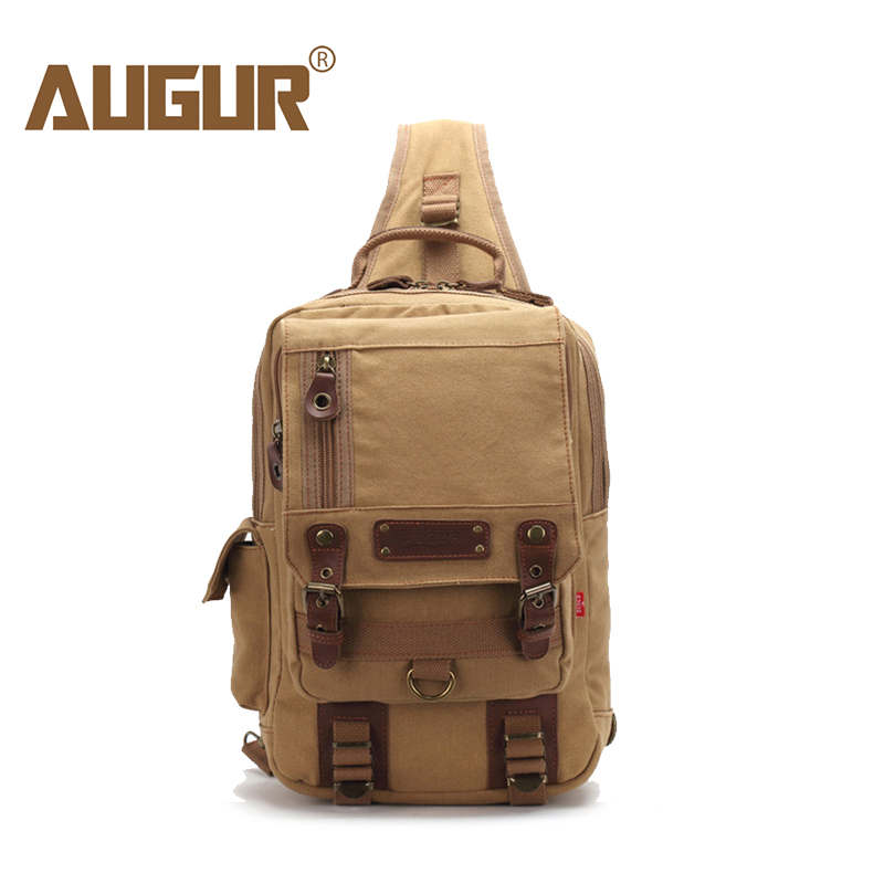 AUGUR 2018 Men Chest Bag Pack Functional Canvas Messenger Bags Small Chest Sling Bag For Male Travel Vintage Crossbody Bag high quality men canvas bag vintage designer men crossbody bags small travel messenger bag 2016 male multifunction business bag