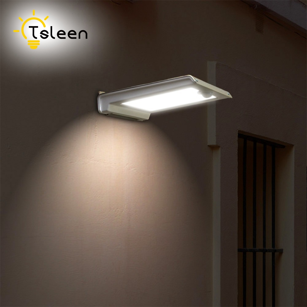 buy TSLEEN Weatherproof Solar LED Wall Path Solar Garden Light LED Outdoor Driveway Balcony Stairs Solar Lamp 46LED Motion Sensor pic,image LED lamps offers