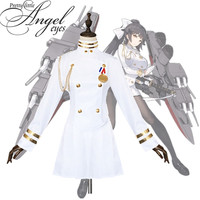 Hot Game Azur Lane IJN Atago IJN Takao Costume Cosplay White Uniform Halloween Party Suit