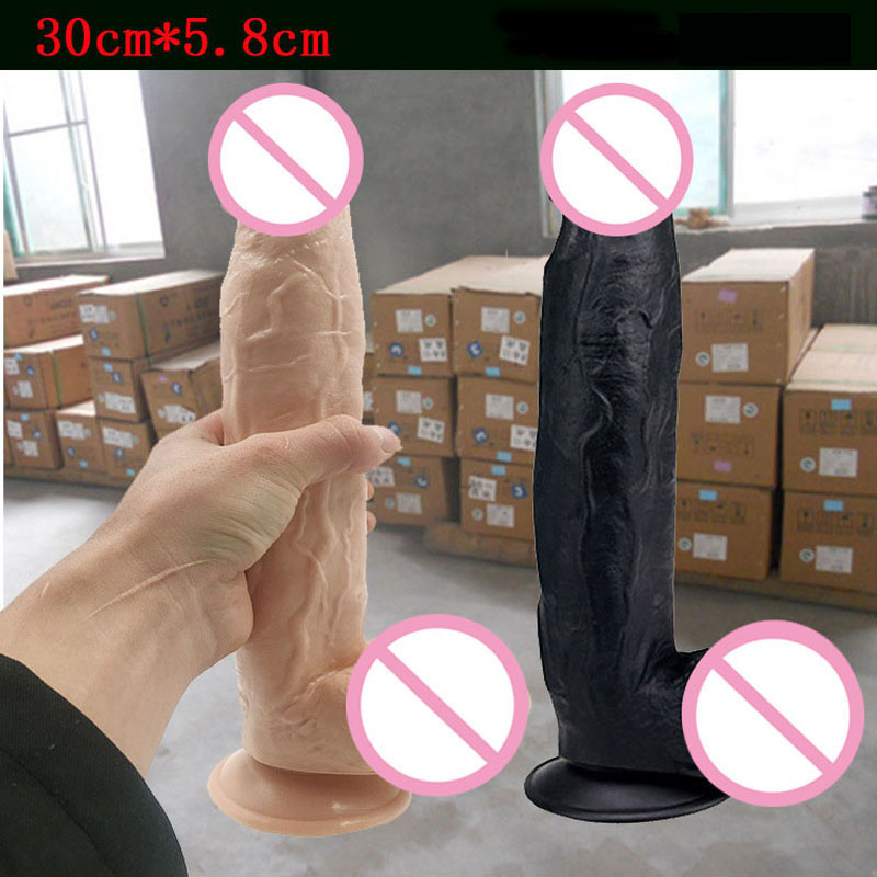 Huge big giant realistic dildo artificial penis male genital fake cock super large dildos suction cup sex toys for woman 12 6 2 3inch super big silicone dildo realistic huge black dildo male artificial penis fake dick sex toys for woman giant dildos page 3