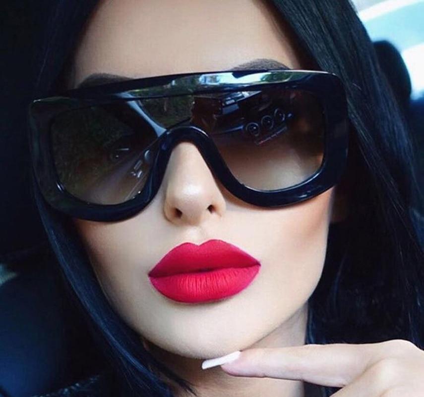 JackJad 2017 Moda Adele Shield Style Gradient Gafas de sol Mujer Cool Brand Design Gafas de sol Gafas Gafas Oculos De Sol Feminino