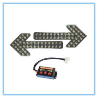Янтарный 400 LED arrow traffic light with reflector inside for high way 24 вольт 12 вольт