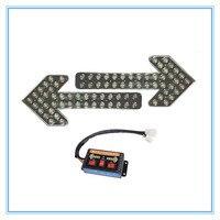 Янтарный 400 LED arrow traffic light with reflector inside for high way 24 вольт 12 вольт