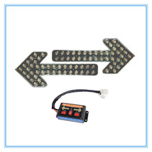 Amber 400 LED arrow traffic light with reflector inside for high way 24volts 12volts