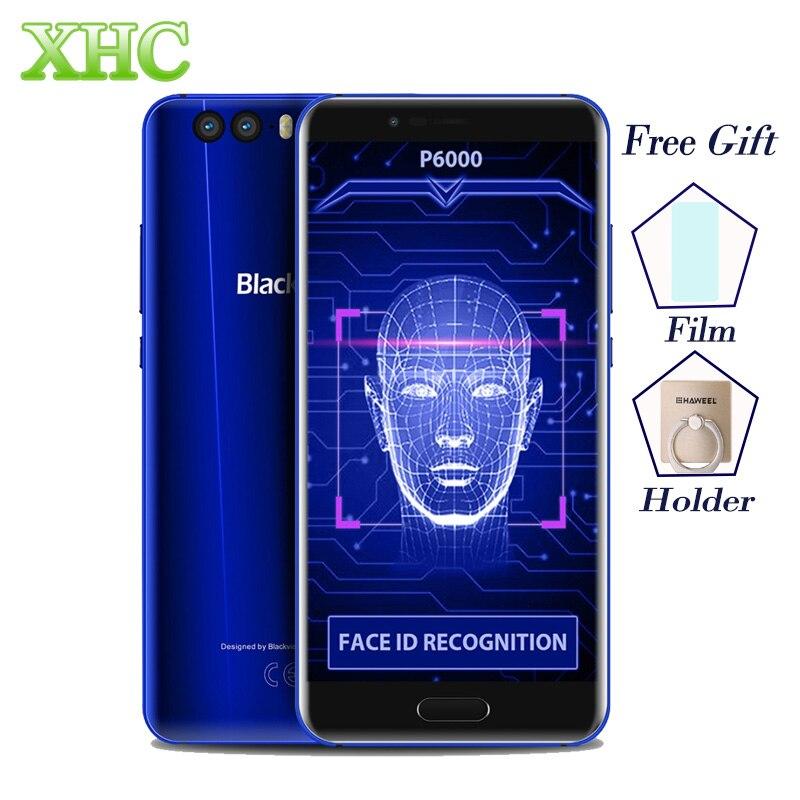 5,5 ''Blackview P6000 6 GB RAM Gesicht ID Handy Android 7.1.1 Octa core GPS OTG Fingerprint 21MP 4G LTE Dual SIM Smartphones