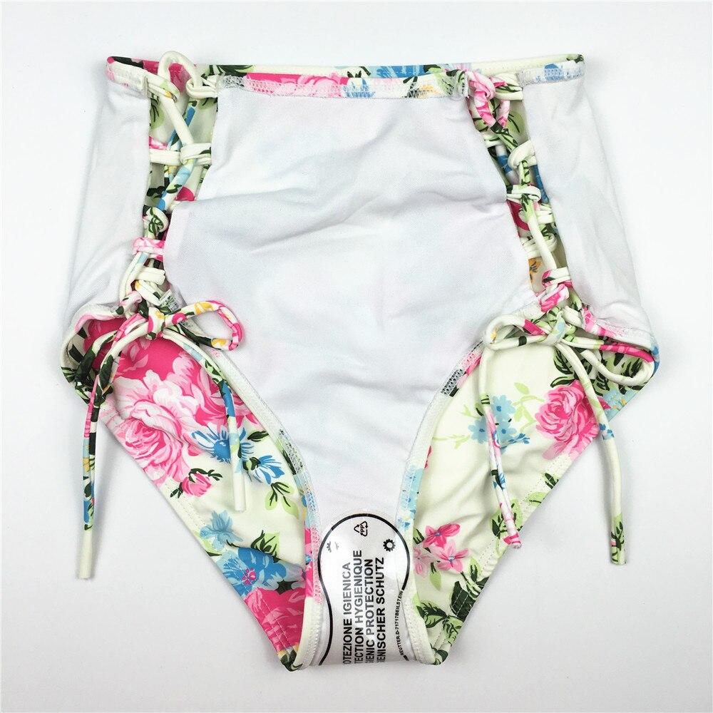 Blom Bikini Set Hög midja Baddräkt Klipp ut Badkläder Kvinna - Sportkläder och accessoarer - Foto 5