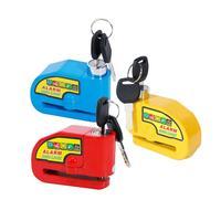 Motorcycle Blue/Red/Yellow Security Anti theft Alarm Disc Brake Lock 2 keys motorcycle Lock