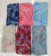 2016 Newest Tree Branch Print Scarf Fashion Women Magpies Bird Print Scarves Shawl Wrap Hijab Scarf Free Shipping