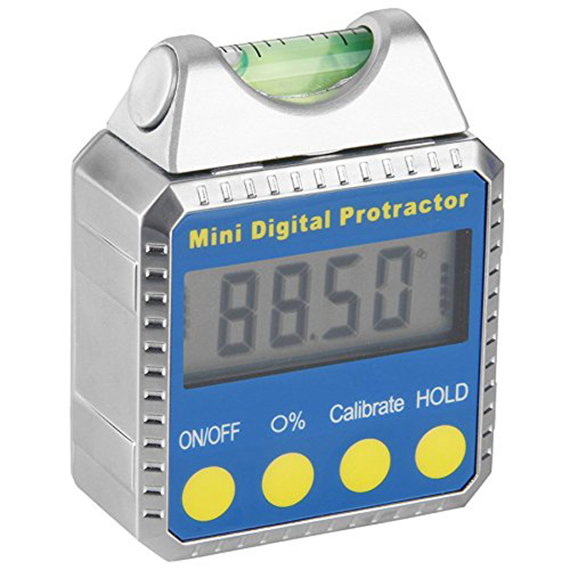 Digital Angle Gauge Mini Protractor Horizontal Bevel Box LCD Display Clinometer with Spirit Level Best For