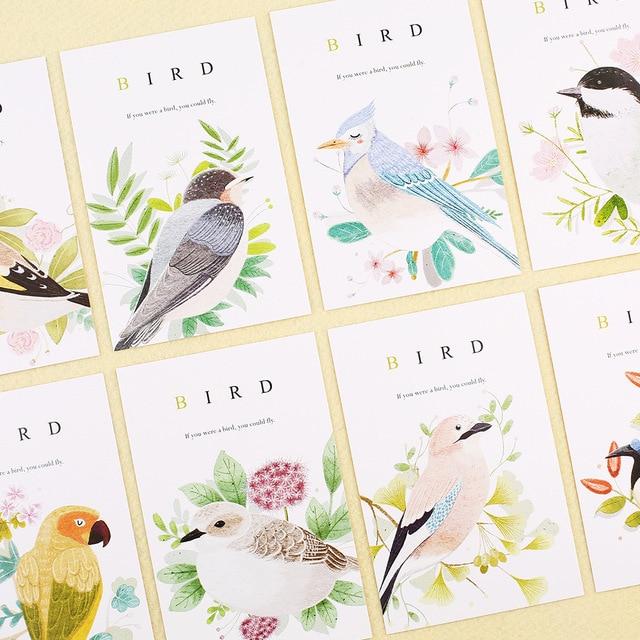 30pcs spring bird sing design postcard say love secret invitation Greeting Cards gift cards Christmas postcard & invitation