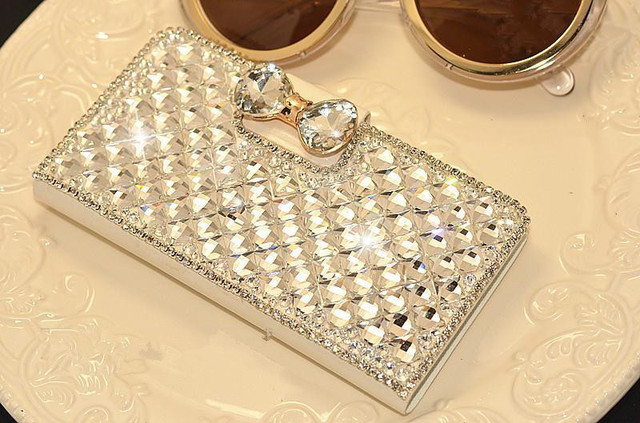 Luxury Bling Rhinestone Diamond PU Leather Case For Lenovo Vibe Shot Z90 Z90-7 / Vibe Max Case 5.0 (Z90a40)