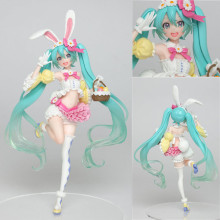 2019 New Japanese Anime Figure Hatsune Miku Rabbit Ear Ver Action Figure Collectible Model Toys For Boys