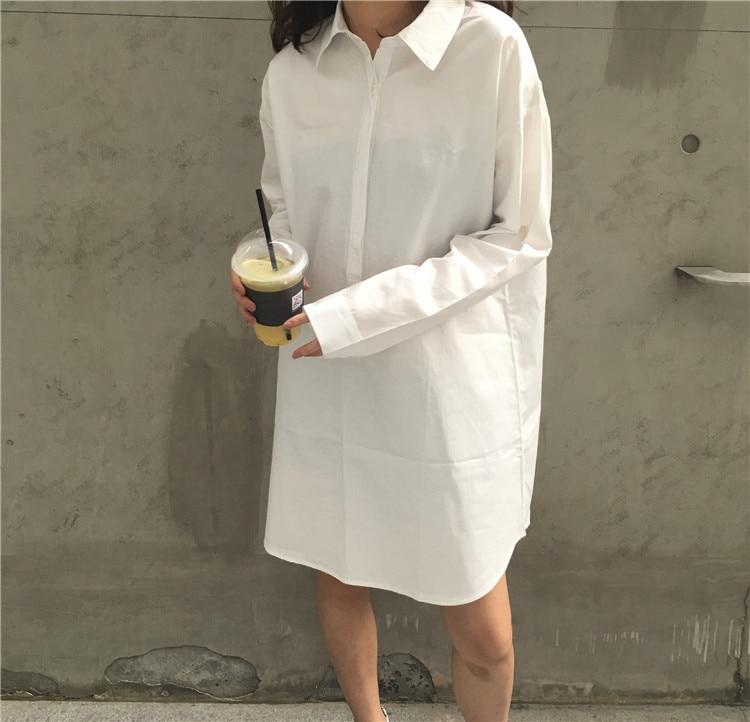 Camisas para mujeres 3 Hoja Lánguida Es Perezoso Blusa Larga Camisa Blanca 786