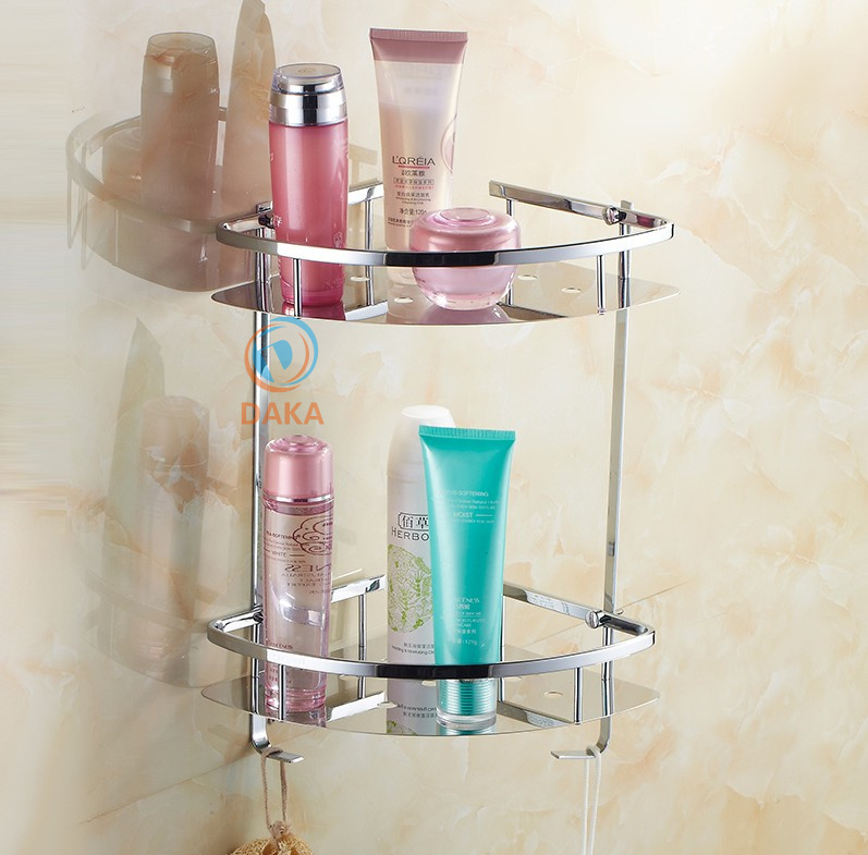 Bathroom Accessories Modern Design Shower Shampoo Toilet Storage Shelf Stainless Steel Chrome
