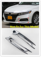 Front Rear Fog Light Lamp Cover Trim ABS Chrome 2pcs For Honda Accord 2018 Car Accessories