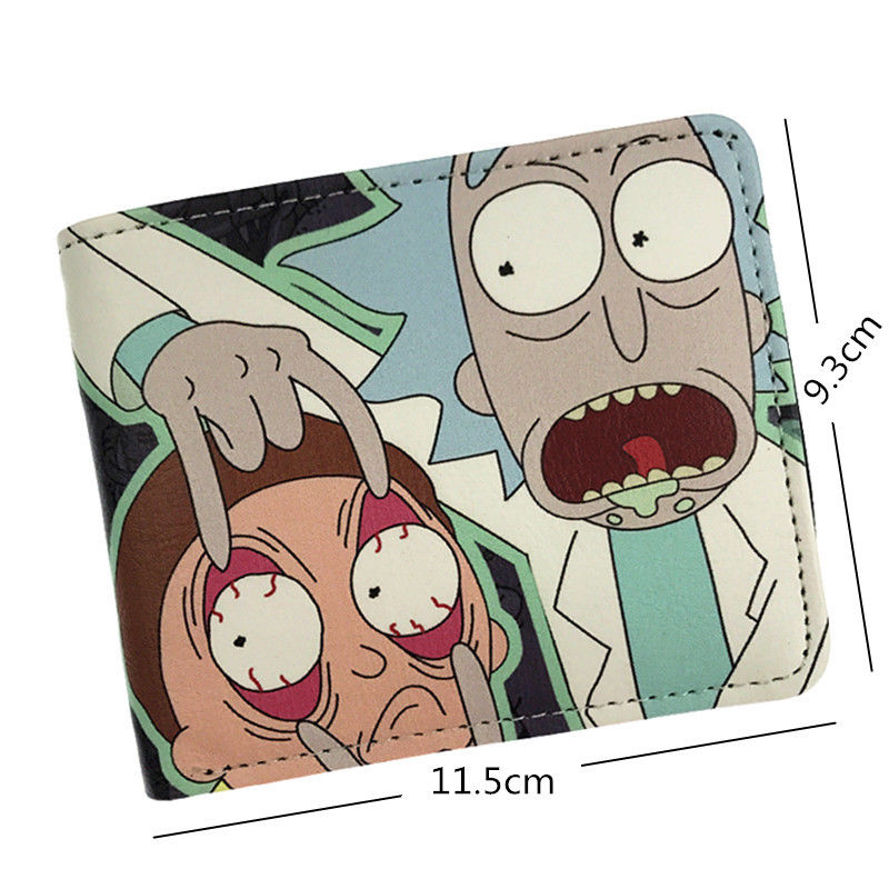 2018 NEW Anime Cartoon Anime Rick and Morty Wallet Pickle Rick Bifold with Money Cards Holder Bag W434 rick and morty pu faux leather bifold wallet dft 10112