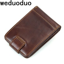 Weduoduo Genuine Leather Card Holder Fashion Men Credit Card Holder Card Wallet Luxury ID Business CardHolder Small Purse цена в Москве и Питере