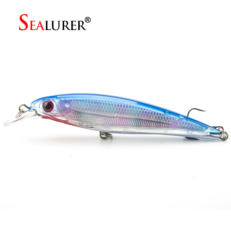 Sealurer 1pcs laser minnow fishing lure 11cm 13g floating for Japanese fishing lures