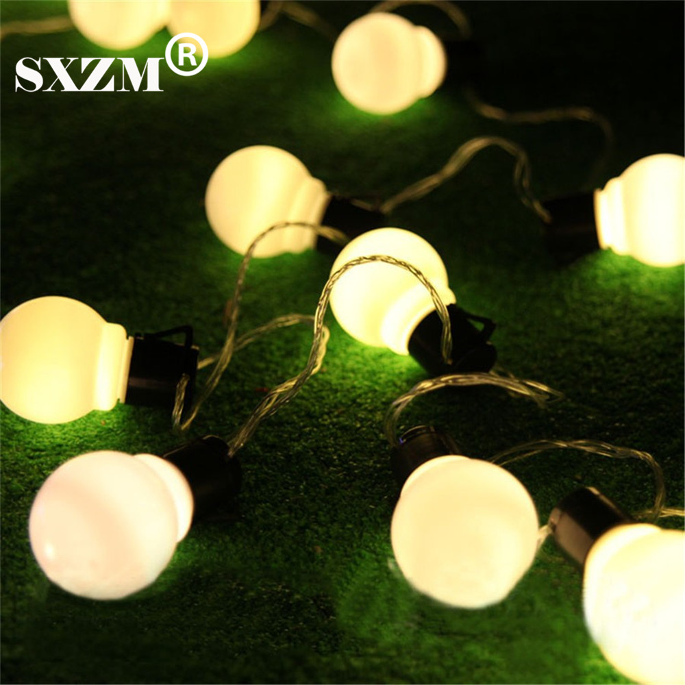 SXZM 10M 38leds led cordes 5CM super grande boule AC110V 220V en - Éclairage festif - Photo 4