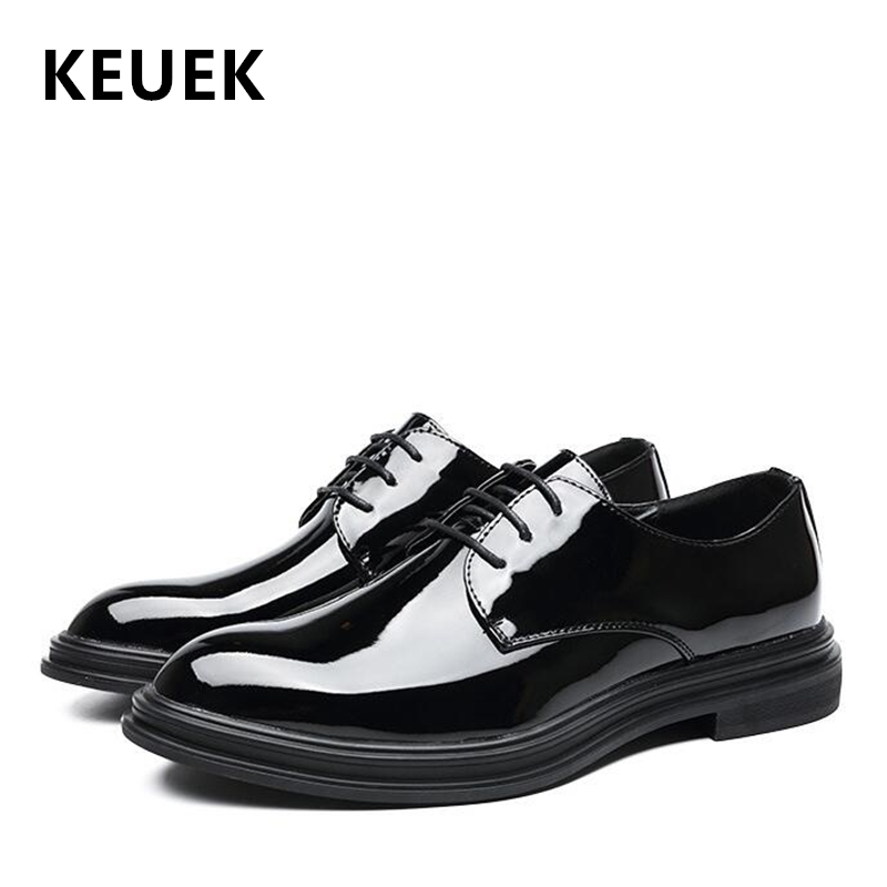 Spring Autumn Men Flats Lace-Up Fashion Casual Leather shoes Luxury Office Business Dress shoes Black 02CSpring Autumn Men Flats Lace-Up Fashion Casual Leather shoes Luxury Office Business Dress shoes Black 02C