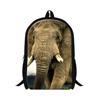 New Arrival 3D Animal Elephant Printing Children School Backpacks College Students Shoulder Bood Bag Casual Men