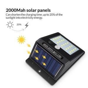 Image 3 - Luminária led portátil para parede, sensor de luz solar, para acampamento, barraca, lanterna led noturna, para jardim, para estrada, à prova d água, para áreas externas