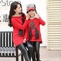 Семья одежды одежды для матери и дочери мама и дочь одежда комплект одежды семьи мода семья комплект стиль, Lb058