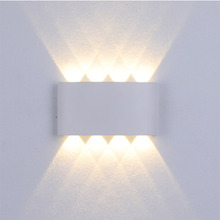 LED Waterproof Wall Sconce 6W 8W 12W Modern Up and Down Wall Light Bedside Luminous Lighting Fixture for Indoor Outdoor Decora