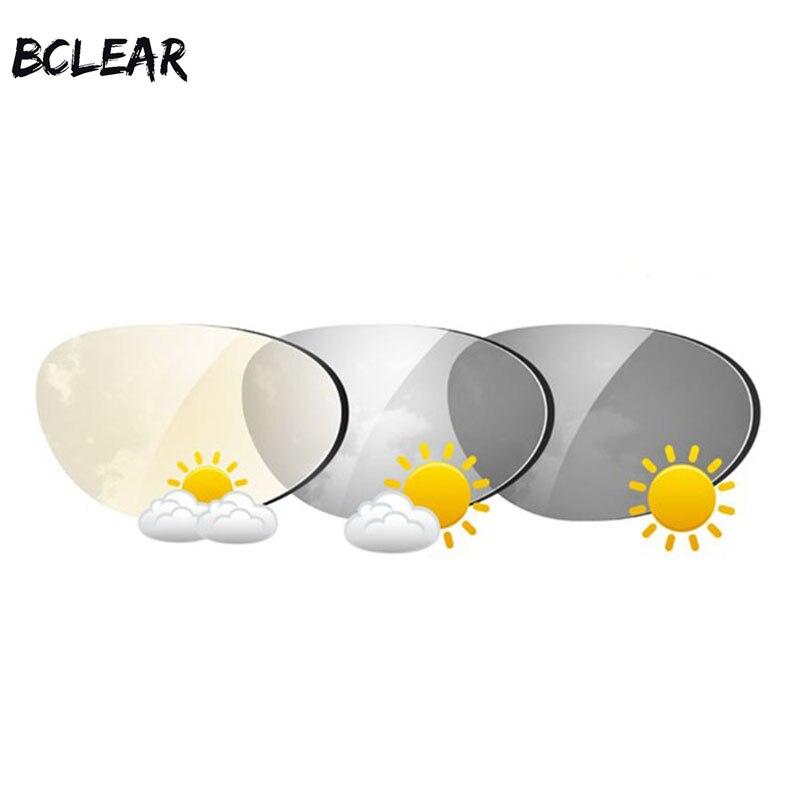 c54124b4e3 BCLEAR 1,61 índice de transiciones asféricas Lentes fotocrómicas lentes de  sol con lente de visión única camaleón gris marrón miopía