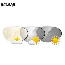 BCLEAR 1.61 Index Aspheric Quá Trình Chuyển Đổi Photochromic Ống Kính Ống Kính Kính Mát với tầm nhìn Duy Nhất ống kính Tắc Kè Hoa Màu Xám Nâu Cận Thị