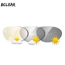 BCLEAR, verres à lunettes de soleil 1.61 Index, Transitions asphériques, verres photochromiques, lentille à vision unique, caméléon gris brun, myopie