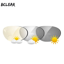 Bclear 1.61 색인 비구면 전환 포토 크로 믹 렌즈 선글라스 렌즈 (싱글 비전 렌즈 포함) 카멜레온 그레이 브라운 근시