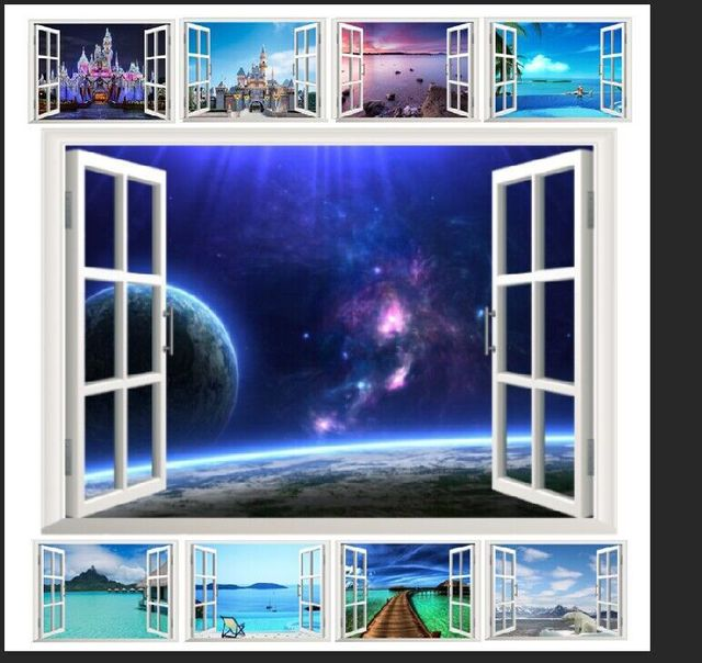 10 Styles For You Choose Ebay Hot Selling 3d Window Decal Wall