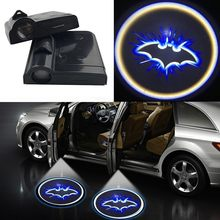 2pcs Wireless Led Car Door Welcome Laser Projector Logo Ghost Shadow Light for BMW Volkswagen Ford Toyota Hyundai Kia Mazda Audi(China)