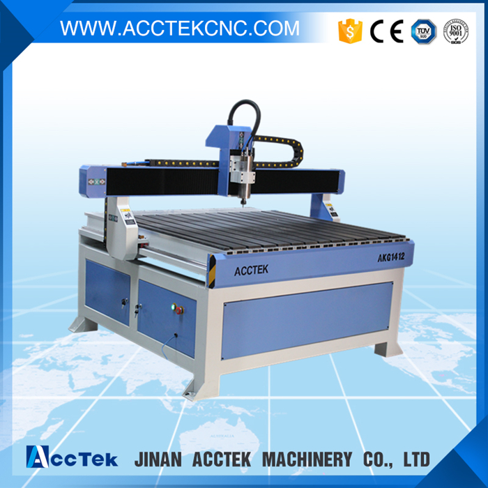 AccTek high quality cnc wood furniture machine 1412, lathe woodworking  machinery with rotary