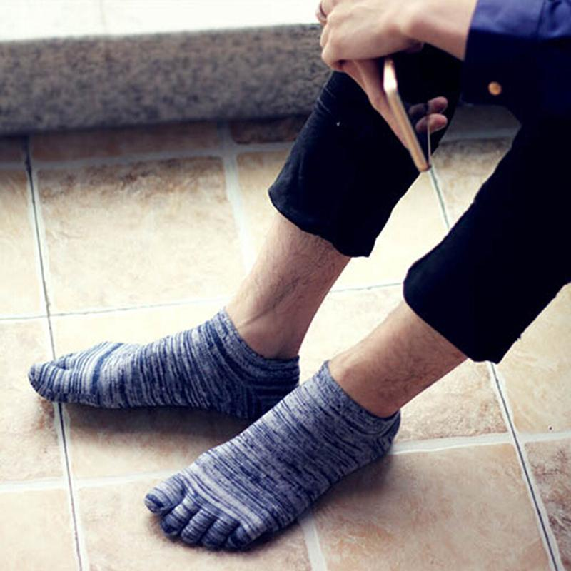 Best Selling Men   Socks   Five Finger   Socks   For Men Summer Fashion Toe   Socks   Breathable Ankle   Socks   4 Colors