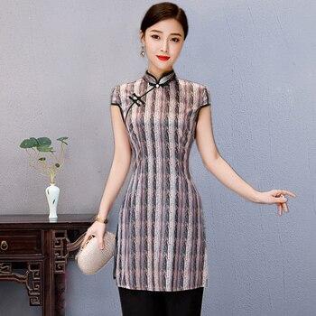 2aba450a5e40 Nueva Camisa de verano para Mujer Tops blusa china tradicional Cheongsam  cuello mandarín Qipao señora ropa Mujer Camisa talla S-XXXL