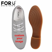 FORUDESIGNS Custom Women Oxford Shoes,Customized PU Flats Shoes Woman Moccasins Casual Oxfords Mujer Plus Size