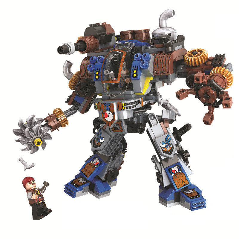 Age Of Steam Creator Titan Robots Building Blocks Sets Bricks Classic City Model Kids Gift Toys Marvel Compatible Legoings 21311 mini jurassic world park fossil triceratops raptor skeleton building blocks sets bricks kids model kids creator toys marvel city