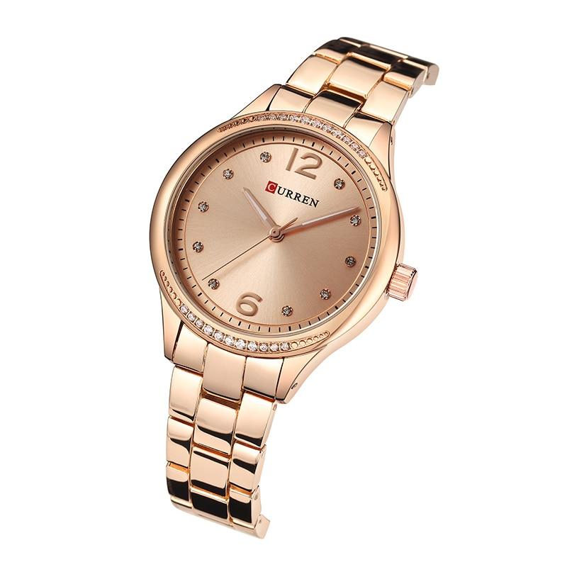 CURREN New Luxury Women Watches Rhinestone Quartz Ladies Watch Full Steel Fashion Dress Clock Montre Femme Reloj Mujer