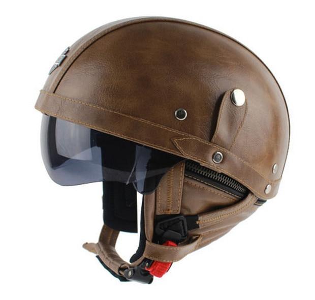 Popular Vintage Leather Motorcycle Helmets-Buy Cheap ...