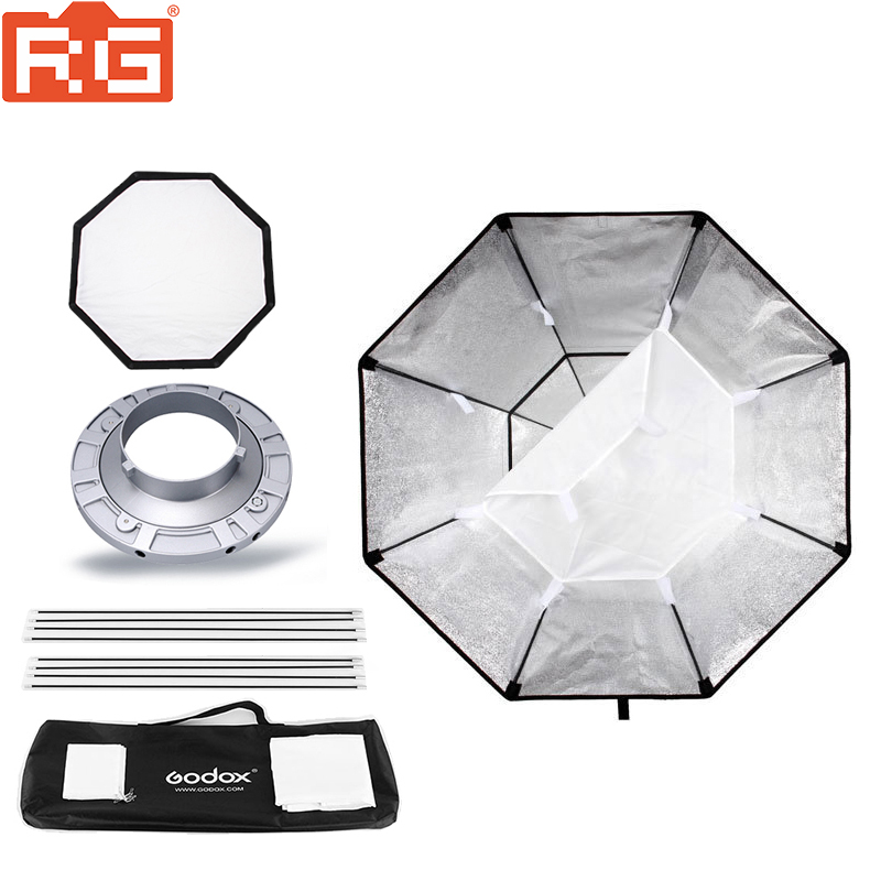 Godox BW120 softbox 120cm 47 Octagon Studio Strobe Softbox with Bowens Mount for Studio Flash