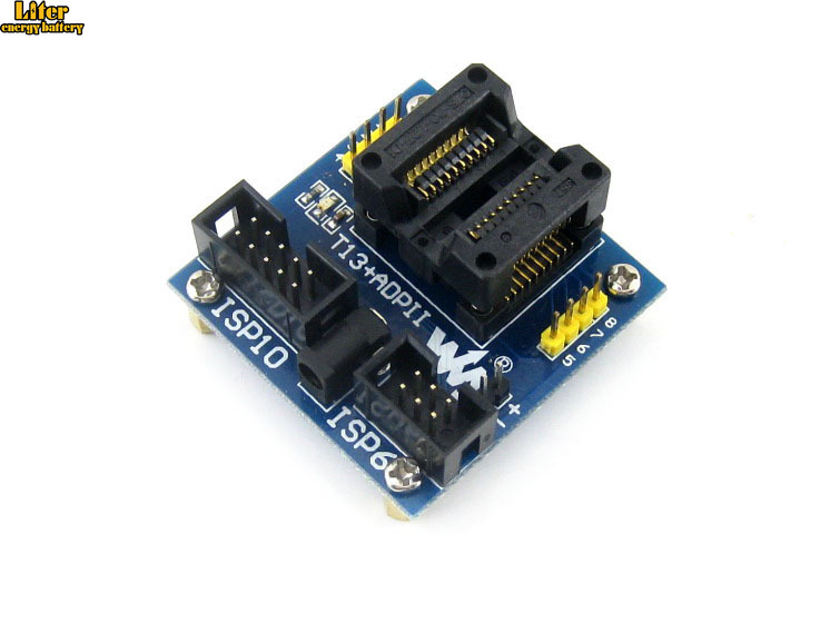 T13+ ADPII ATtiny13 ATtiny12 ATtiny15 ATtiny25 ATtiny45 SOIC8 (208 Mil) AVR Enplas Programming Adapter Test Socket