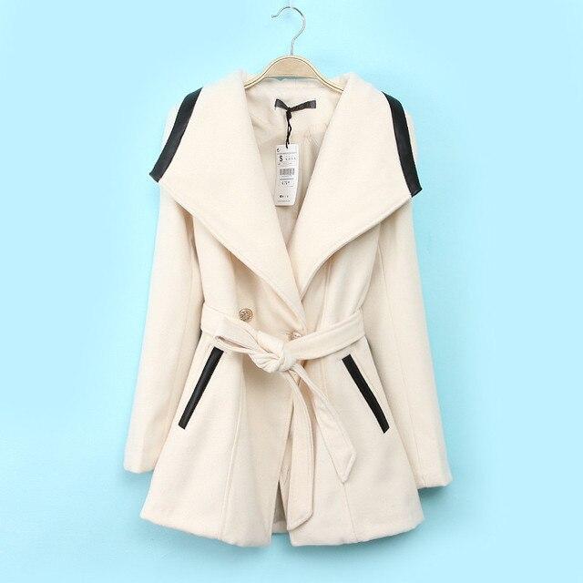 Хорошее качество шерстяной куртка женская Черный Красный Бежевый M-XXL куртки женские большой размер Однобортный элегантный Стройное ветровка женская Мода элегантный 1649