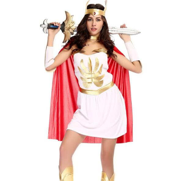 Ladies Roman Greek Xena Gladiator Warrior Princess Roman Spartan Costume women sexy party cosplay halloween wholesale