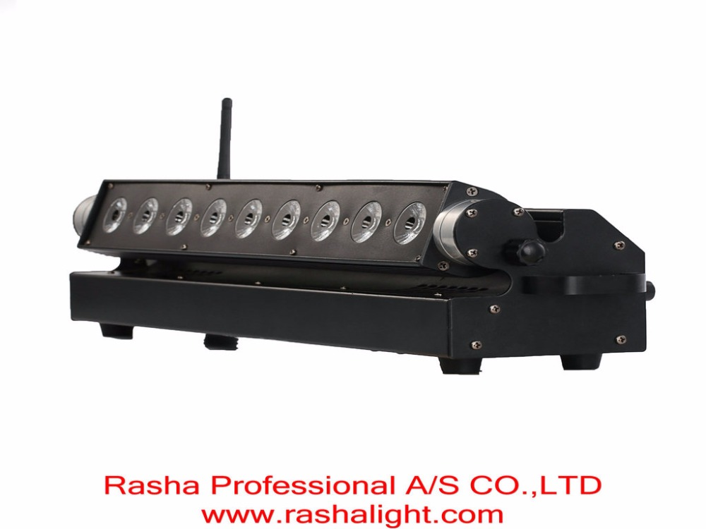 Rasha Panta Wallbar 2.4G 9*15W RGBAW 5in1 Chargeble Powered Wireless DMX512 LED Wall Washer Light For Bar Disco 110-260V