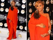 Beyonce Vestidos Neck Big Size Orange Chifon One Shoulder Long Prom Party Gown Evening Dresses For Pregnant Women 2015