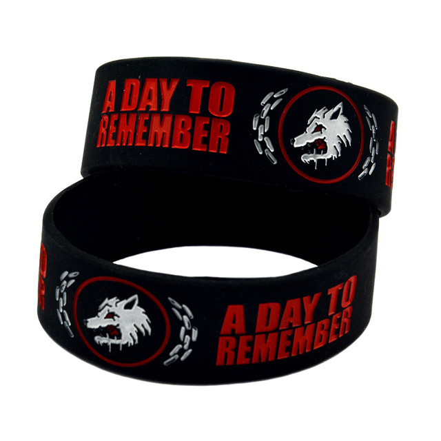 Onebandahouse 25pcs Lot Rock Band A Day To Remember Silicone Wristband 1 Inch Wide Bracelet
