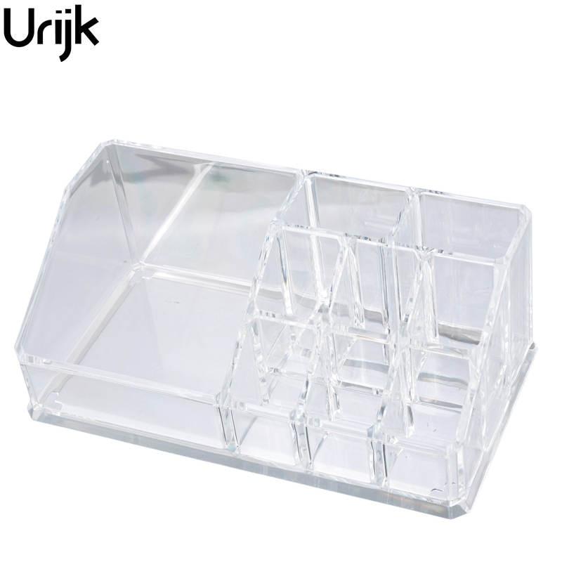 Urijk Trucco Organizzatore di Plastica Scatola di Immagazzinaggio Di Monili Contenitore Toeletta Organizzatore Cosmetici Storage Box Holder 17x9.4x6.7 cm